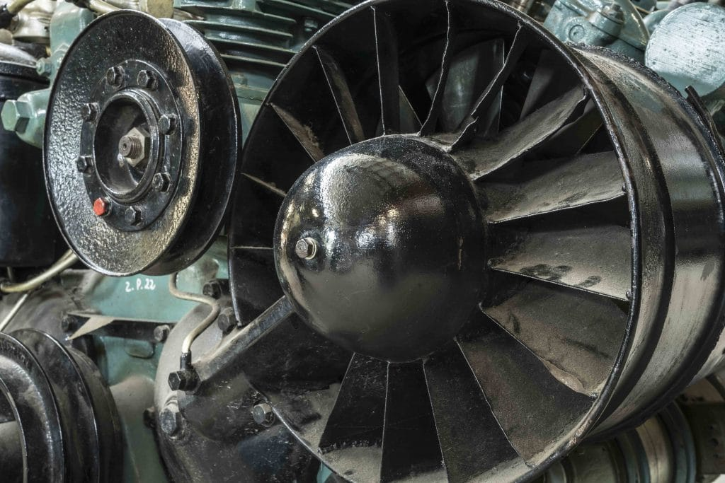 Kühlergebläse eines Dieselmotors Antriebstechnik Ventilatoren